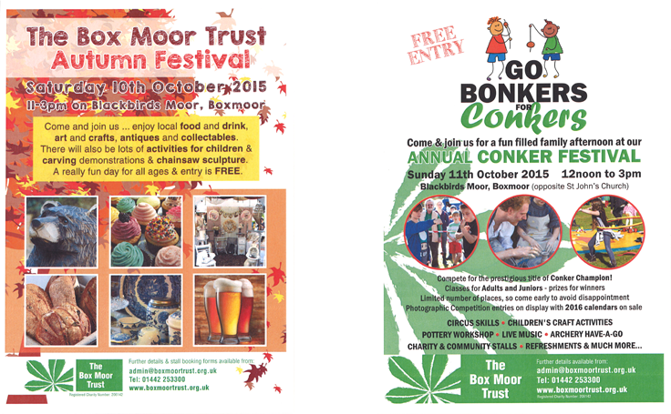 The Box Moor Trust Festival and Go Bonkers for Conkers